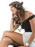 Jóvenes que les gusta el sonido que usted está oyendo. Imagenes de archivo