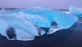 Jökulsárlón glacial lagoon in Iceland. Blue Ice royalty free stock image