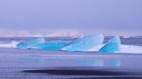 Jökulsárlón glacial lagoon in Iceland. Blue Ice royalty free stock photo