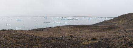 Jökulsárlón Glacier Lagoon. The Jökulsárlón Glacier Lagoon, a beautiful lagoon set between a glaicer and the sea, full of icebergs Royalty Free Stock Images