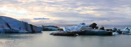 Jökulsárlón glacjalna laguna, Iceland zdjęcia royalty free