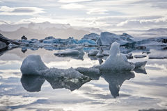 Glacier lagoon tranquility stock photo