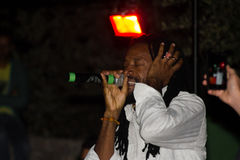 Júnior que canta kally Foto de Stock Royalty Free