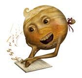 Júpiter que aprende cantar Imágenes de archivo libres de regalías