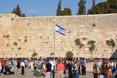 Jüdisch beten Sie die Klagemauer stockbilder