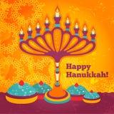 Jüdische Feiertags-Chanukka-Elemente für Design stockbild