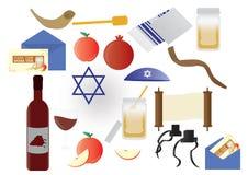 Jüdische Feiertagselemente Rosh Hashana lizenzfreie abbildung