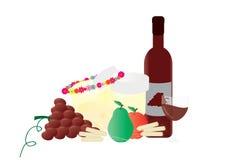 Jüdische Feiertagselemente Shavuot stock abbildung