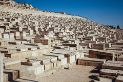 Jüdische Gräber in Jerusalem Lizenzfreie Stockbilder