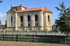 Jüdische Synagoge des alten Verfalles in Bytca, Slowakei lizenzfreies stockbild