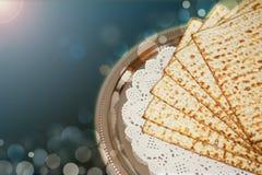 Jüdischer Feiertag des Frühlinges des Passahfests und seiner Attribute Lizenzfreies Stockbild