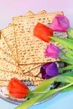 Jüdischer Feiertag des Passahfests und seiner Attribute Stockfotos