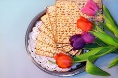 Jüdischer Feiertag des Passahfests und seiner Attribute Stockfoto