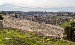 Jüdischer Kirchhof auf dem Ölberg, Jerusalem Lizenzfreie Stockfotografie