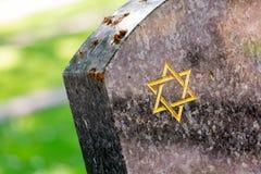 Jüdischer Kirchhof: Davidsstern auf der Finanzanzeige Stockbild