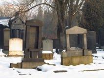 Jüdischer Kirchhof im Winter Lizenzfreie Stockfotografie