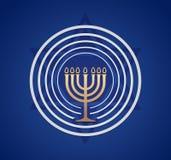 Jüdischer Menorah-Vektor Stockfoto