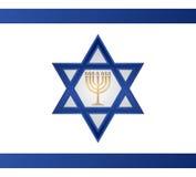Jüdischer Menorah-Vektor Stockbilder