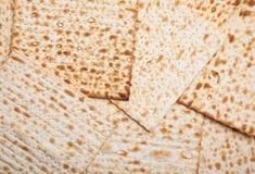 Jüdisches matza als Hintergrund Lizenzfreie Stockbilder