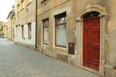 Jüdisches Viertel in Turnov Stockfotos