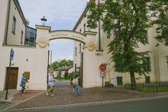 Jüdisches Viertel von Krakau, Polen Stockfotos