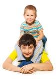Spielen mit großem Bruder Stockbild