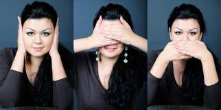 Jüngeres schönes Mädchen im karierten Hemd Lizenzfreies Stockbild