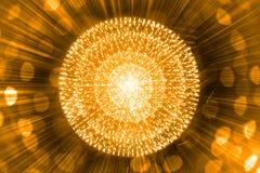 Jądro Jądrowy atom wybucha promienia napromienianie ilustracja wektor