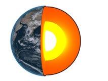 jądro ziemi Fotografia Royalty Free