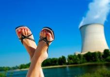 Jądrowa problem ochrony środowiska metafora Zdjęcia Stock