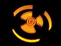 jądrowy niebezpieczeństwo symbol Obrazy Royalty Free