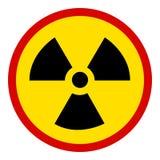 jądrowy szyldowy biel ilustracja wektor