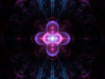 Jądrowy zimnej fuzi fractal abstrakcjonistyczny tło royalty ilustracja