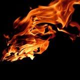Jęzory ogień Zdjęcia Royalty Free