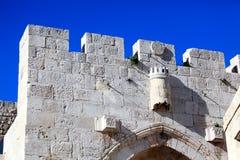 Język arabski ćwiartki brama, Stara miasto ściana, Jerozolima Fotografia Royalty Free