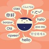 Język Doświadczony royalty ilustracja
