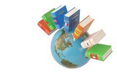 Język książka z ziemią, 3D ilustracja ilustracji