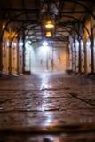 Języka arabskiego rynek zamykający przy nocą Zdjęcie Royalty Free