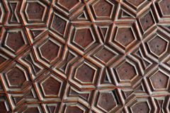 Języka arabskiego wzór w meczecie zdjęcie stock