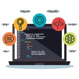 Języki programowania ustawiają ikony ilustracji