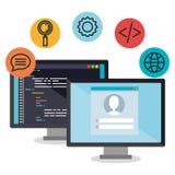 Języki programowania ustawiają ikony ilustracja wektor