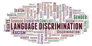 Językowa dyskryminacja formułuje chmurę - typ dyskryminacja - ilustracja wektor