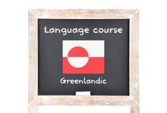Językowy kurs z flaga na pokładzie zdjęcie royalty free