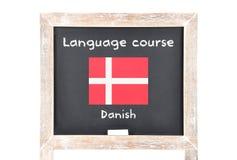 Językowy kurs z flaga na pokładzie obrazy royalty free