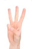 językowy numerowy znak sześć Fotografia Royalty Free