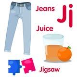 J字母表的以图例解释者 库存图片