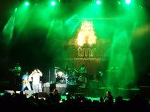J布格在阶段唱歌在MayJah RayJah音乐会 库存照片