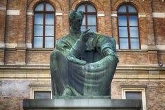 J的纪念碑 J Strossmayer在萨格勒布,克罗地亚 免版税库存图片