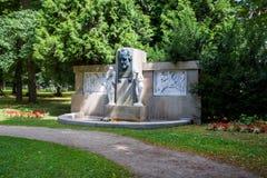 J的纪念碑 W 歌德在温泉公园- Frantiskovy Lazne Franzensbad -捷克 库存图片
