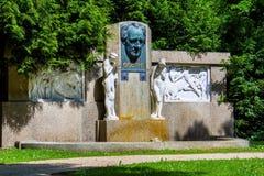 J的纪念碑 W 歌德在温泉公园- Frantiskovy Lazne Franzensbad -捷克 免版税库存照片